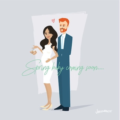Royal Baby Announcement Poster Art