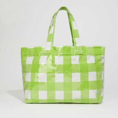 Shrimps Gingham Vinyl Shopper