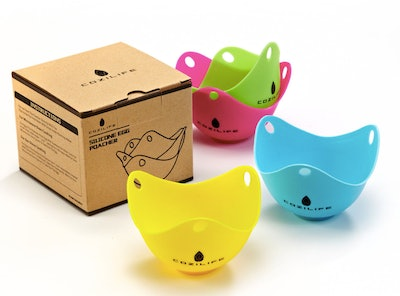COZILIFE Silicone Egg Poaching Cups (4 Pack)