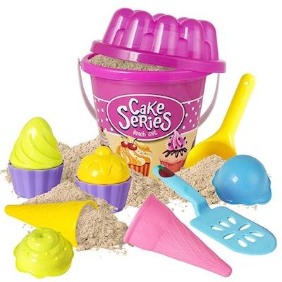 Anika's Crafts Sand Toy Ice Cream Cupcake Set