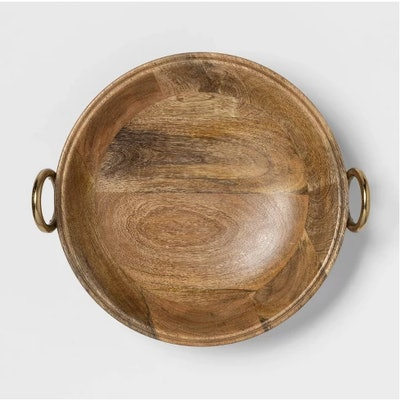"""Cravings by Chrissy Teigen 13"""" Round Bowl with Aluminum Gold Handle"""