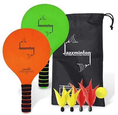 Funsparks Jazzminton Paddle Ball Game with Carry Bag