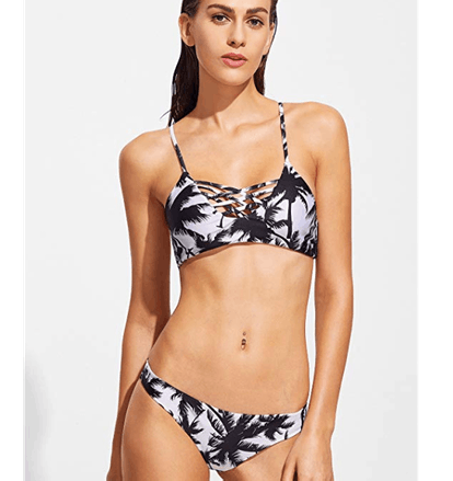SweatyRocks Adjustable Spaghetti-Strap Bikini