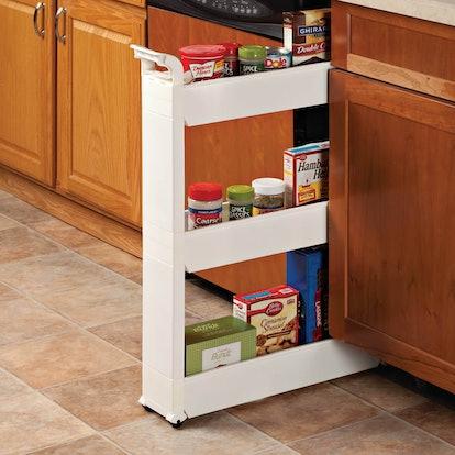 Slim Three-Tiered Storage Cart