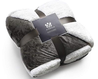 Kingole Luxury Sherpa Blanket, Queen