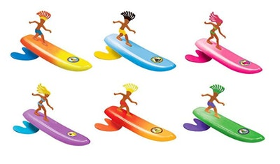Surfer Dudes 2019 Edition Wave Powered Mini-Surfer and Surfboard Beach Toy by Aussie Alice