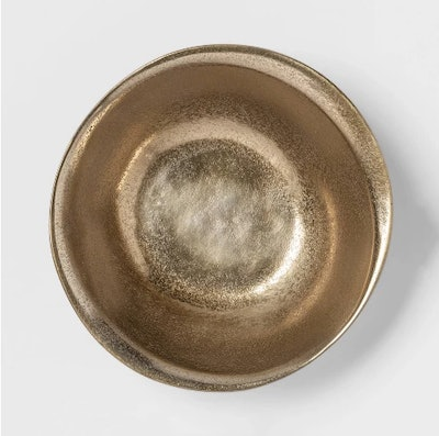 "Cravings by Chrissy Teigen 10"" Rough Aluminum Bowl - Gold"
