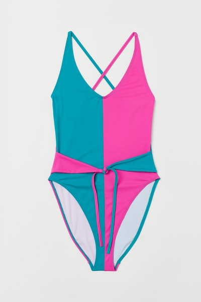 Color Blocked One-Piece