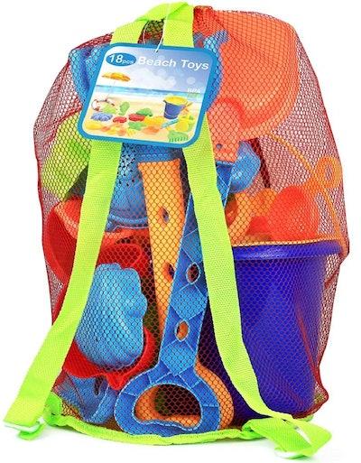 Click N' Play 18-Piece Beach Sand Toy Set