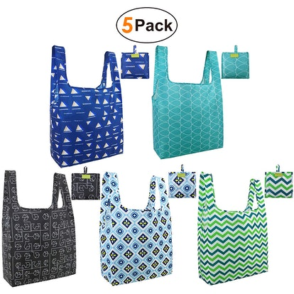 BeeGreen Reusable Grocery Bags (5 Pack)