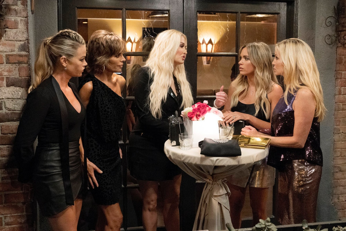 Are Denise Richards & Camille Grammer Friends? 'Real Housewives Of Beverly Hills' Tackles Their First Fight