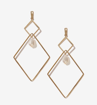 Bill Gold Fresh Water Pearl Earrings
