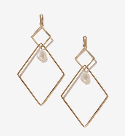 Bill Gold Fresh Water Pearl Earrings