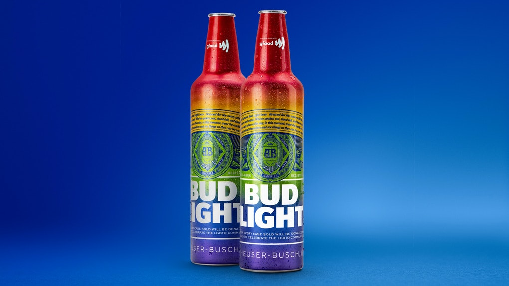 Here's Where To Get Rainbow Bud Light GLAAD Bottles To Show