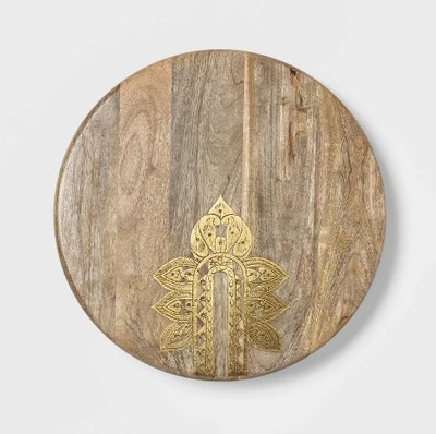 """Cravings by Chrissy Teigen 16"""" Lazy Susan with Metal Decoration"""