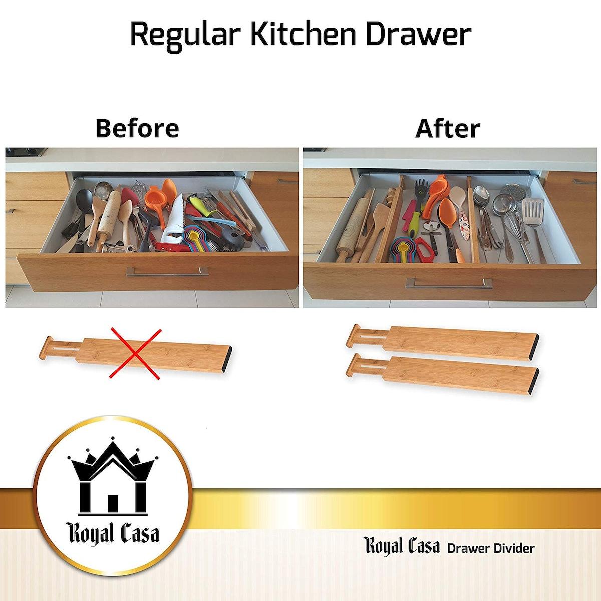 Royal Casa Drawer Dividers (4 Pack)