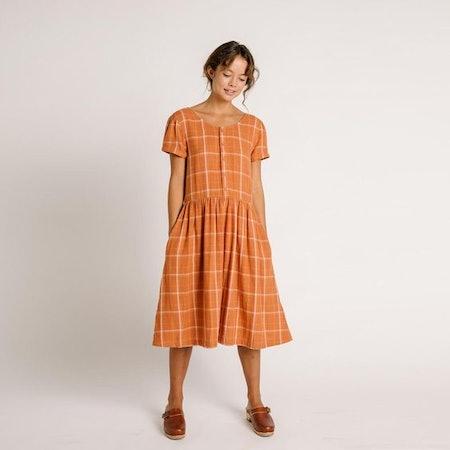 Linden Dress – Rust Check