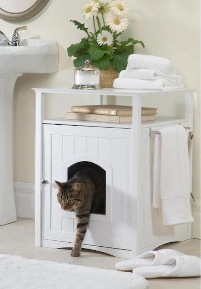 Merry Products Furniture Hidden Cat Litter Box Enclosure