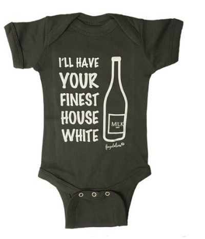 """Faybeline Boutique Baby Onesie """"I'll Have Your Finest House White"""" (0-12 Month)"""