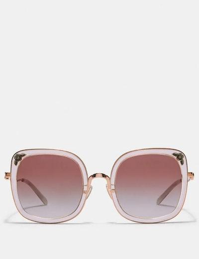 Tea Rose Square Glasses