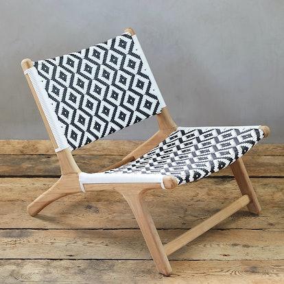 All Weather Wicker + Teak Armless Chair
