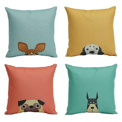 Cartoon Dog Square Pillow Cases