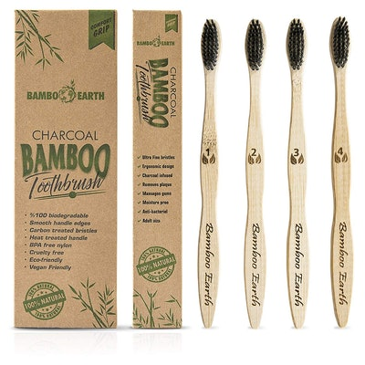 Bamboo Earth Charcoal Toothbrush (4 Pack)