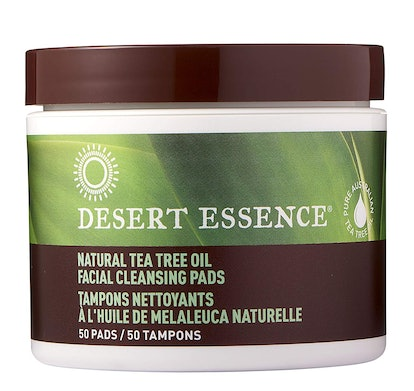 Desert Essence Tea Tree Oil Facial Cleansing Pads (50 Count)