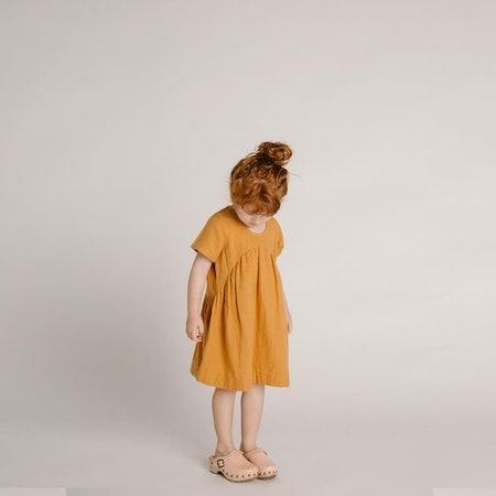 Clover Toddler Dress – Gold