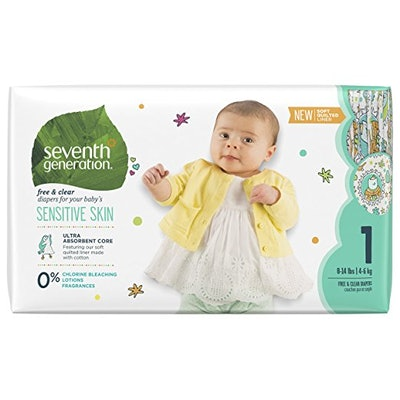 Seventh Generation Baby Diapers, Free and Clear for Sensitive Skin