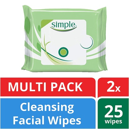 Simple Facial Wipes, 25 Count (2 Pack)