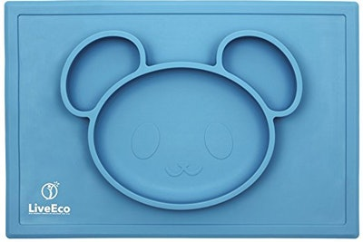 LiveEco Silicone Placemat and Tray for Babies