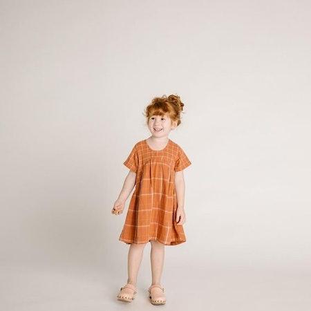 Clover Toddler Dress – Rust Check