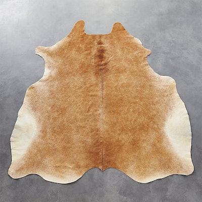 Cowhide Light Brown Rug, 5' x 8'