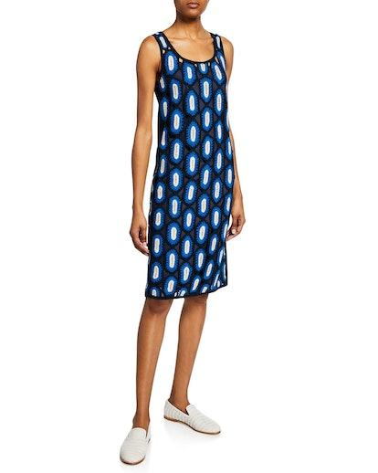 Scoop-Neck Crochet Tank Dress
