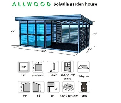 Allwood Solvalla, Studio Cabin Kit, Garden House