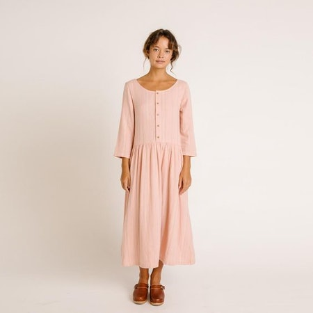 Zinnia Dress – Rose Stripe