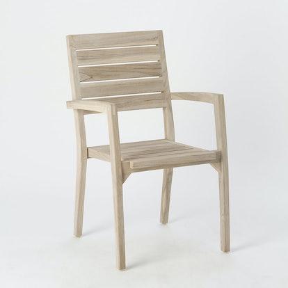 Slatted Teak Stacking Chair