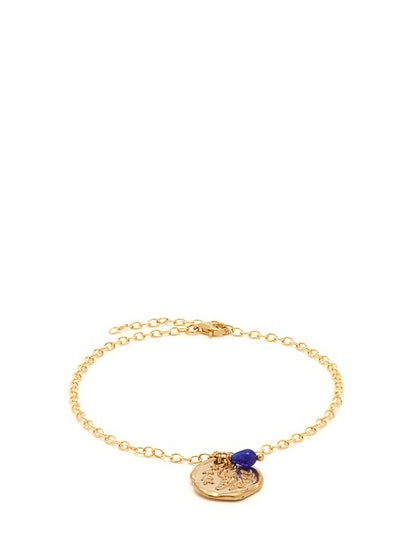 Wing-Embossed Charm Chain Anklet
