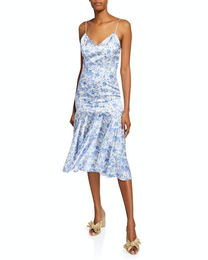 Kai Floral Fit-&-Flare Slip Dress