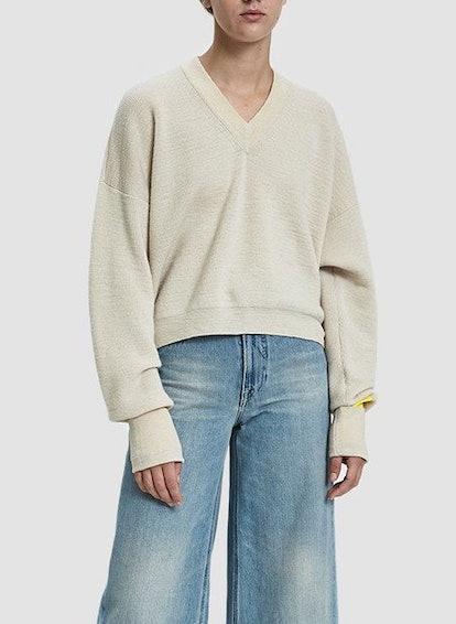 V-Neck Extended Sleeve Sweater