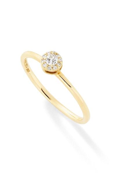 D Diamond Stack Ring