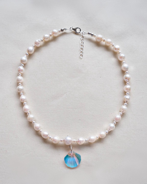 Pearl Shine Collar Necklace