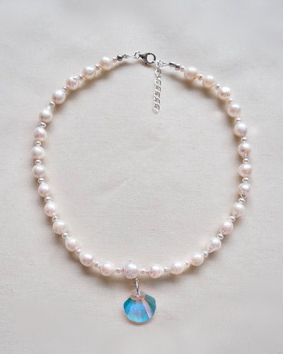 Pearl Shine Collar Necklace