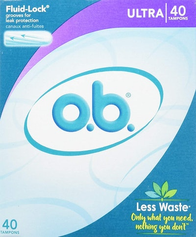 o.b. Original Non-Applicator Tampons, Ultra Absorbency