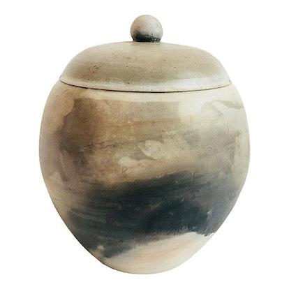 Vintage Raku Pottery Container