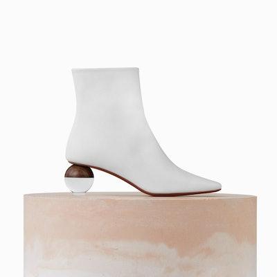 Encyclia Perspex Sphere Heel Boots