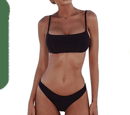 Summer Mae Padded Push-Up Brazilian Thong Bikini Set