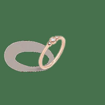 Three Stone Diamond Bezel Ring