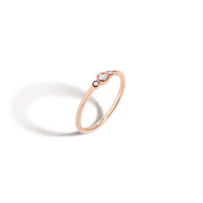 Three Stone Diamond Bezel Ring